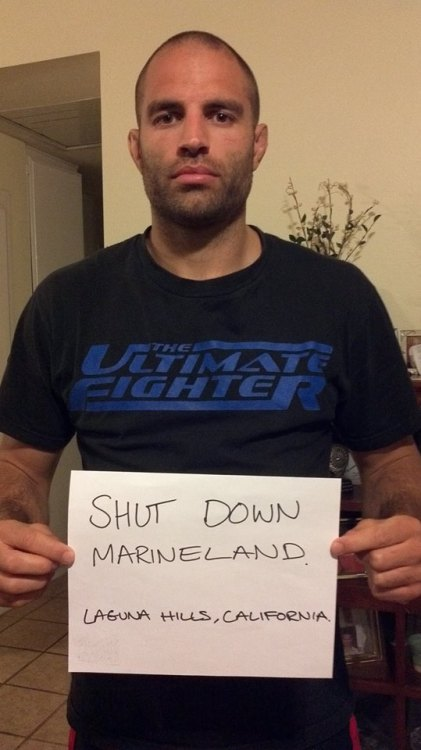 "Here's a great ""Shut It Down"" image just sent in by UFC legend James Wilks!! All the way from Laguna, California. Thank you James!"