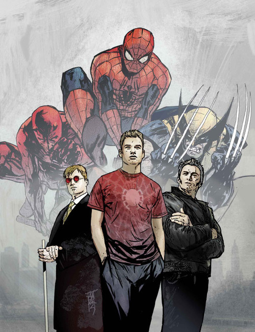 comicsareart:  James Howlett, Matt Murdock, and Peter Parker by Alex Maleev
