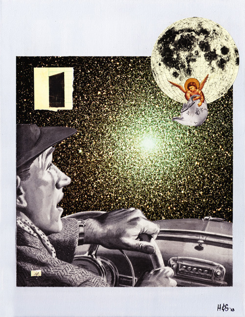 hoopandstick:  Faith or Reason No. 1: 'The Burden of Proof' - Collage on Canvas 2013Hoop on FBBuy the Print!