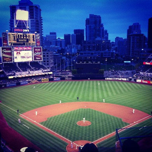 Enjoying a stress-free baseball game— Nationals vs Padres.  (at Petco Park)