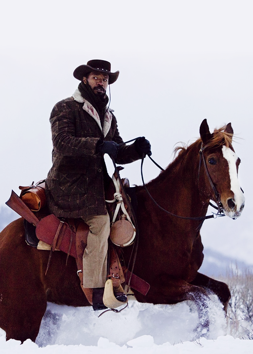 During the movie, Django Unchained. I couldn't help but notice how fashionable the clothes were! For a slave he sure has style!