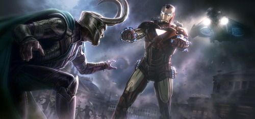 The Avengers concept art by Andy Park Artist facebook / blog / deviantart via bluedogeyes