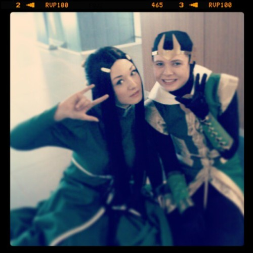 sabrequire:  Leah and Kid Loki  Look at how kawaii we are… They should totally make us into an anime. (Kid Loki is Lilprince; Leah of Hel is Aigue-Marine)