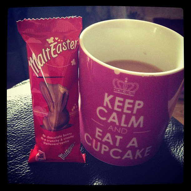 Breakfast of champions #malteasterbunny #tea #easter #favourites
