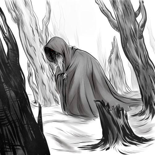 Eventually he became a wraith. A ghost of his former glory. There is no life left in his eyes. Only a bitter spark of madness, endlessly seeking revenge. Some call me mad to say this but I have looked in to those hateful eyes more times than I'd like to recall. I see his hatred and I feel my shame. — another commission based on the line above