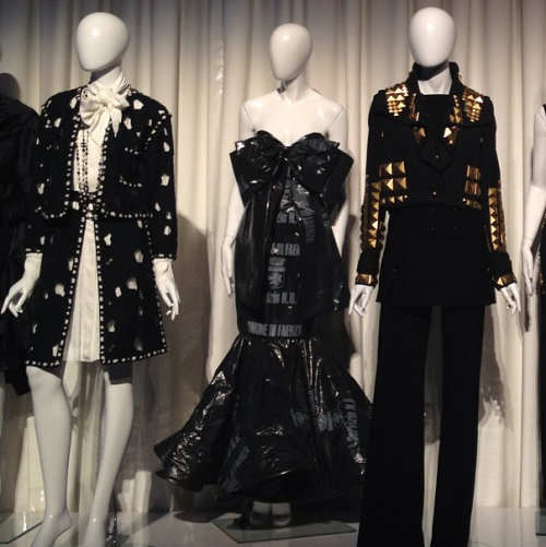 Costume Institute punk exhibit teaser…! Show opens May 9. Photographed by Julia Rubin.