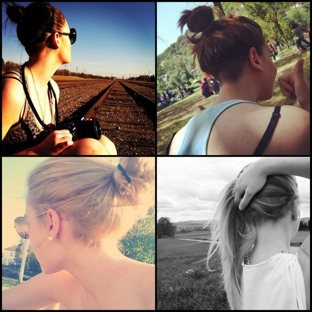 #undercut #outdoor #bun #messybun #knot #updo #nature #hairup ❤❤❤❤