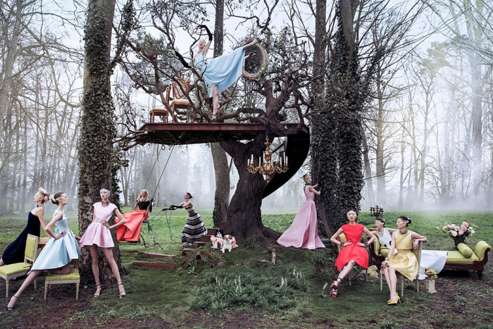 'Secret Garden Of Versailles' | Daria Strokous And Others By Inez Van Lamsweerde + Vinoodh Matadin For Dior | May 2013