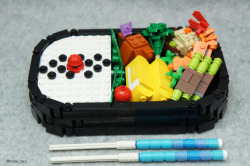Lego-licious creations by Japanese Lego master Tary.More: http://www.spoon-tamago.com/2016/04/29/japanese-lego-master-builds-delicious-looking-creations-from-blocks/