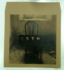 "Bastions - One colour, black halftone print on 12"" record mailers. Super limited for their Euro tour with Battle For Paris!"