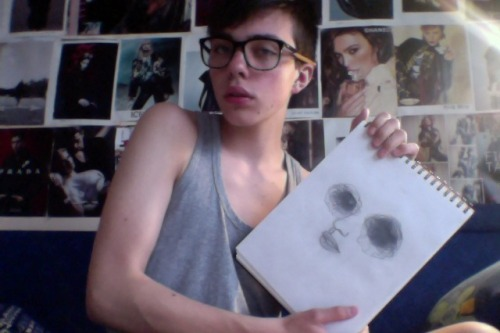 blanklights:  me and my ugly art
