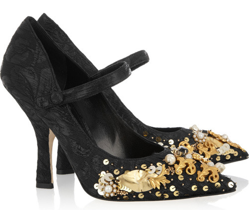 Another set of heels by Dolce and Gabbana. These are far more different than the previous butterfly heels.