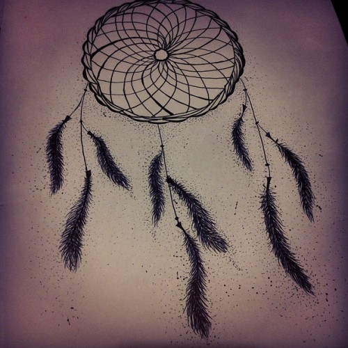 Quick lil' sketch. #feathers #dreamcatcher #art #drawing