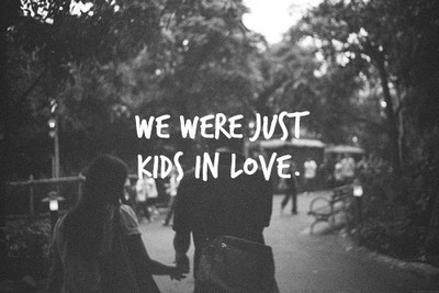 Kids in love.