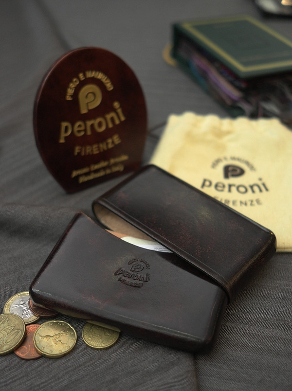 Peroni Card Waller, Art No.1482 Briar brown  At B&Tailorshop