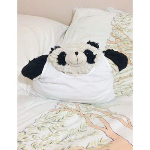 My boyfriend for tonight 😘🐼 #pillowpet #cute #panda