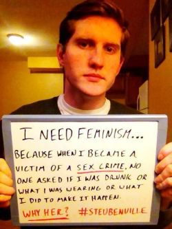 dallyingminstrel:  sowouldfinnick:  inspirationbyinvitation:  Male feminists  Why the fuck doesn't this have eight million notes? Get it together, tumblr.  This is pretty relevant to my dash right about now.