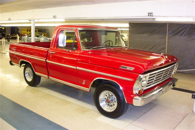 cherry red 67 ford f100…I so want to own one of these one day