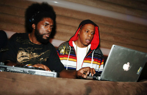 defjamblr:  Jay-Z and ?uestlove.