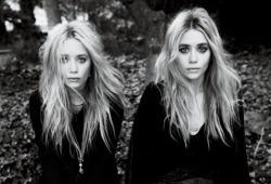 mine fashion b&w Olsen Twins olsen mary kate and ashley wazzup