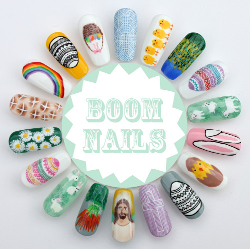 boomnails:  Happy Easter Boom Nails