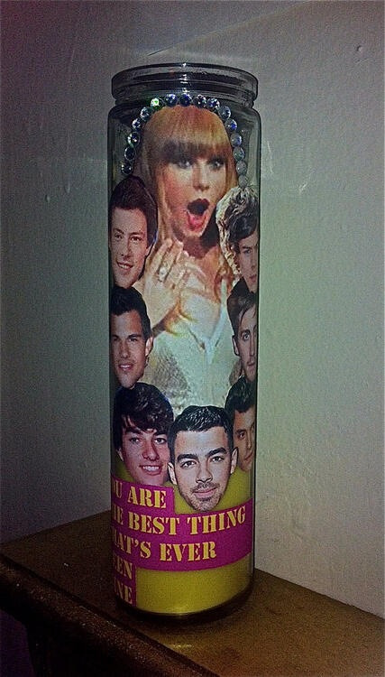 Meeting at my house. I'll provide the Taylor Swift Ex-Boyfriends Prayer Candle.