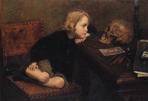 poboh:  The young Hamlet, Jules Brehel. 19th Century.