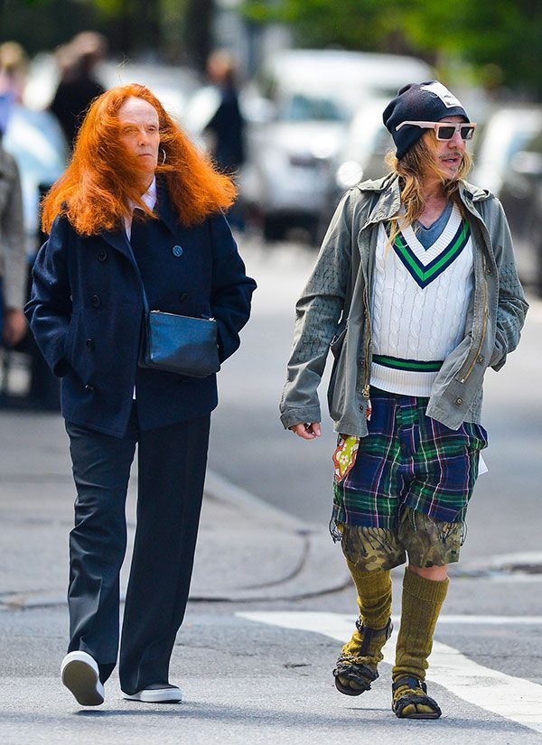 9177190891:  Grace Coddington and John Galiano, out for a stroll in nyc. 2013