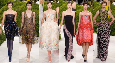coco-lagerfeld:  CHRISTIAN DIOR SPRING 2013 COUTURE It was a defining moment in Fashion history. Raf Simons' latest collection for the House of Christian Dior (his second couture show) was enveloped with a magical air of grandeur and extreme sophistication. The collection was a homage to one of the house's prime muses: flowers. Simons weaved his own ode to the flowers just like his predecessors (Dior, Saint Laurent, Galliano) did before, by showing a collection celebrating the dior woman. A woman with refined manners, unparalleled elegance, and lavish taste. A woman as beautiful as blooming flowers.              There's this polished cleanliness in Raf's clothes that intensifies the beauty and magic of the collection.              Im sure this dress will be a red-carpet favorite   A new generation of Dior-Chic     Divine details!    I kinda miss John Galliano's majestic embroidery. Well, here's Raf Simons' take on floral appliques!       Fantastic!!!           They're like dryads and flower fairies coming out from that magical forest!!  Can you hear the entire fashion world clappin Mr. Simons?? can you??   WERQQQ!!!
