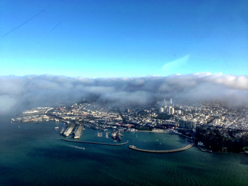 SF from 1000ft over the Bay.