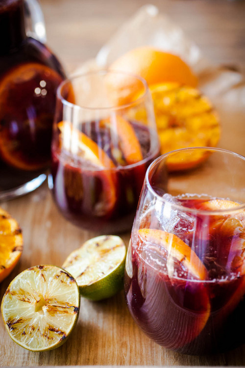 thirsty thursday contribution | summer sangria with grilled citrus