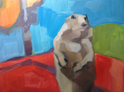 benjamemes:  Dramatic Chipmunk, 2007, 2013 BENJAMEME .012 Oil on vellum  newest one!