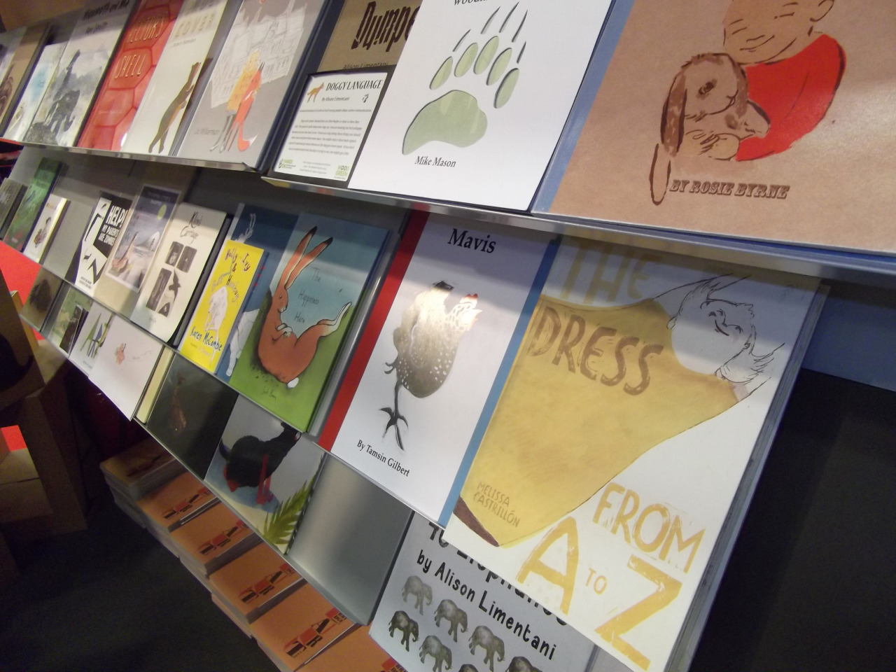 Bologna Children's book fair- A section of all the beautiful dummy books we had on display, my A-Z book in the foreground.