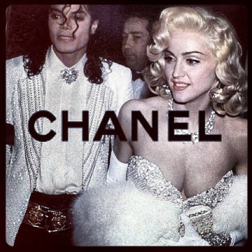 johnnygoodson:  Classy not trashy….2013 #michealjackson #maddona #chanel #idol #fashion