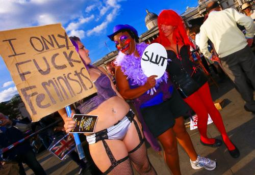Slutwalk had a huge message to give;- Dont friggin rape us!!! Click through photo for album <3