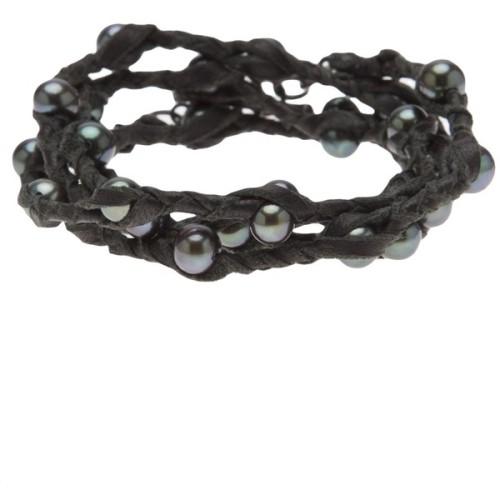 polyvore fashion jewelry bracelets braided wrap bracelet spinelli kilcollin braided jewelry wrap bracelet