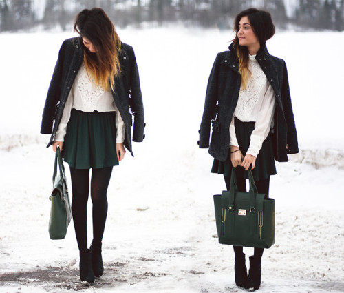 lookbookdotnu:  Forest green (by Maria L.)
