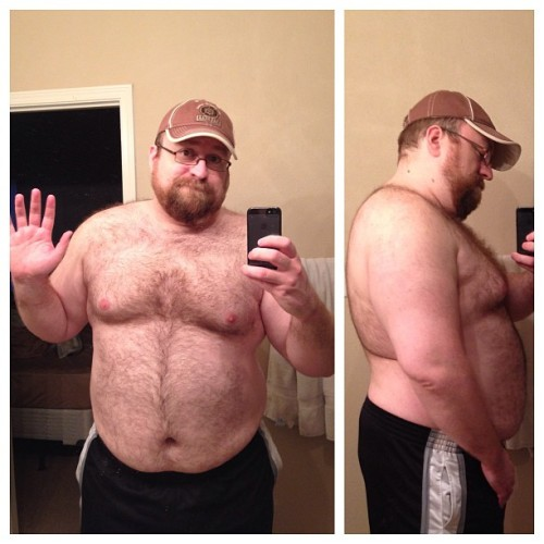 Well, you look fucking great to me! Super sexy. jeremasaur:  Well I'm 358.0lbs this morning. Given how high that is there really has to be a consequence. Since I'm a Scorpio and gain strength by the kind comments of others… Until my weight is 330 or below I will only allow myself one selfie for every five pounds lost. Lets see if that kicks my fat ass into gear. This will serve as a before pic. I can do this (finally.)