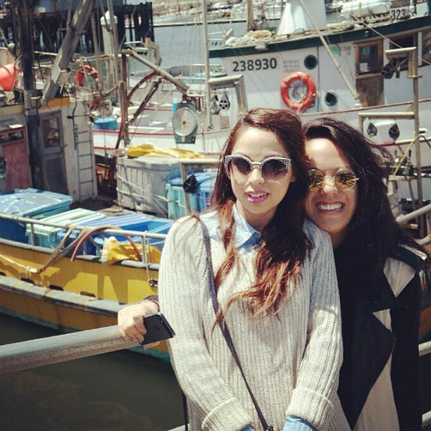 WILL MISS YOU MARY! #latergram #boats #halfmoonbay #california #besties #sunnies #sunshine #bayarea