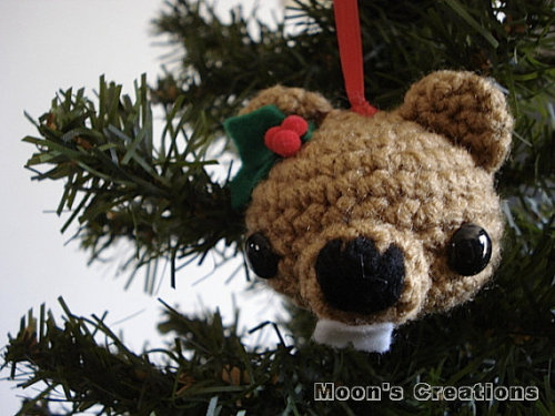 Woodland Beaver Amigurumi Ornament by MoonsCreations on Etsy