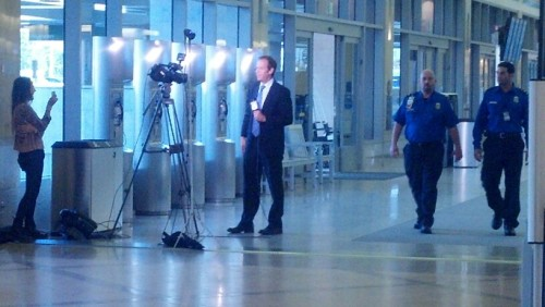 KTLA reporting at John Wayne airportI'm at Terminal B (via Scope)
