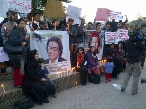 Vigil to show solidarity with Irfan Ali and further his voice. I am Glad people joined us. RIP Irfan - Mazhab key naam pey qatl-aam, band karu. You'll live forever in our hearts.