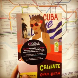 Celebrating a year in print for Caliente by Chris Hilton. You'll find a copy taking some time out on the Tube. #booksontheunderground