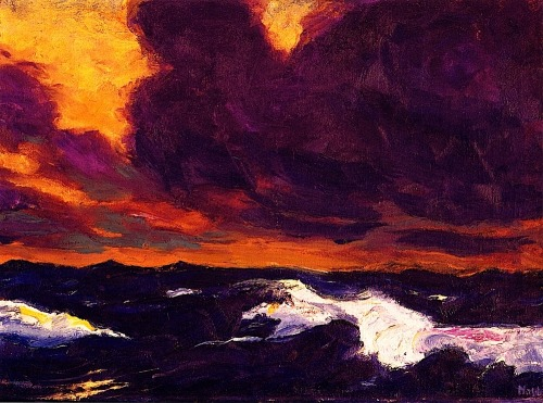 bofransson:  The Sea - Emile Nolde - 1930