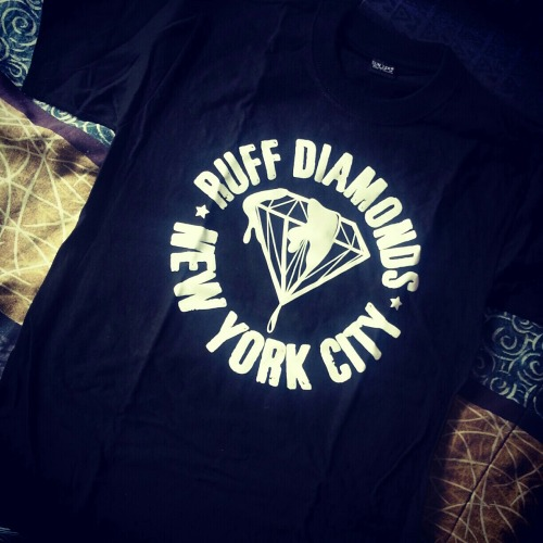 Ruff Diamonds NYC Black Tee Available: email: ruffdiamondsnyc@gmail.com & FOLLOW ON INSTAGRAM: ruffdiamondsnyc