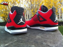 "Air Jordan 4 ""Toro Bravo"" (New Images) via kicksonfire.com"