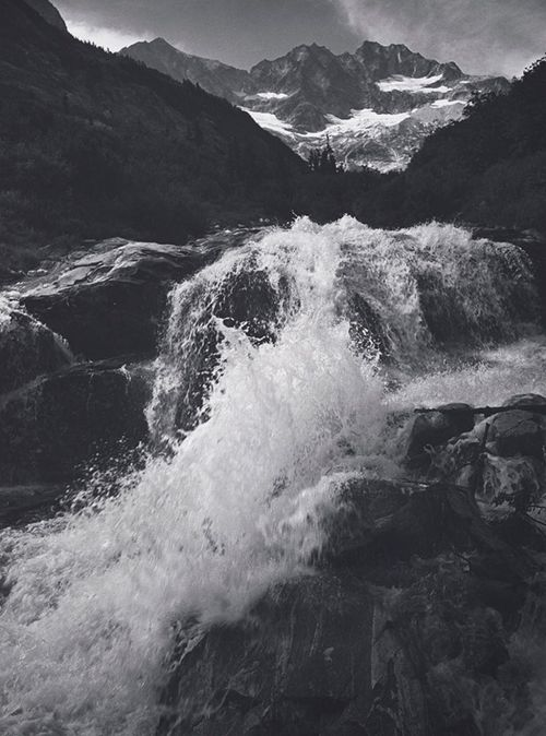 yama-bato:  Ansel Adams: Waterfall, Northern Cascades, Washington, 1960 (Courtesy Center for Creative Photography, ©2012 The Ansel Adams Publishing Rights Trust) via