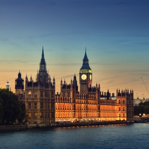 Parliament and Big Ben are beautiful at dusk