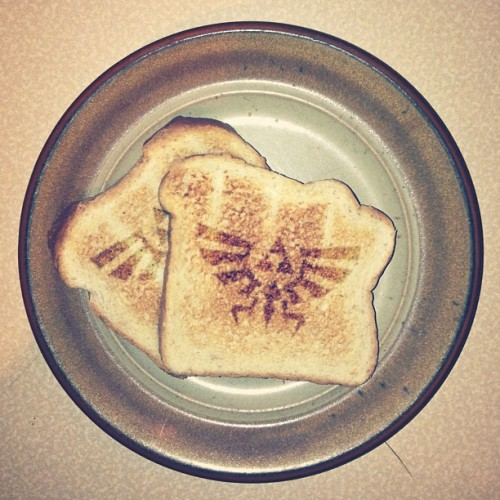 youbringfire:  #Project365 - 24/365 - Had some Hyrulian toast this mornin'. In case you don't know, I love The Legend of Zelda. #Zelda #Gaming