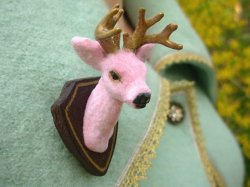 Buck Yourself Pink Deer Brooch